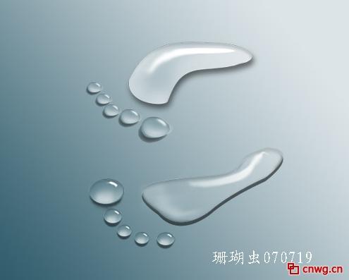 photoshop图层样式-打造可爱的水晶小脚丫