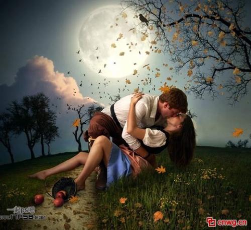 月亮 接吻